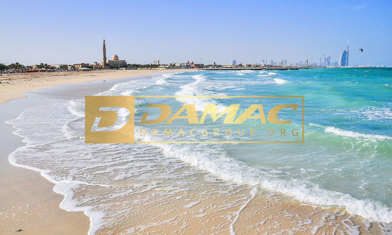 یکی از سواحل خاص و دیدنی در شهر دبی