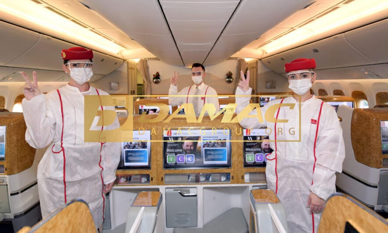 پرواز ویژه امارات با خدمات واکسینه شده